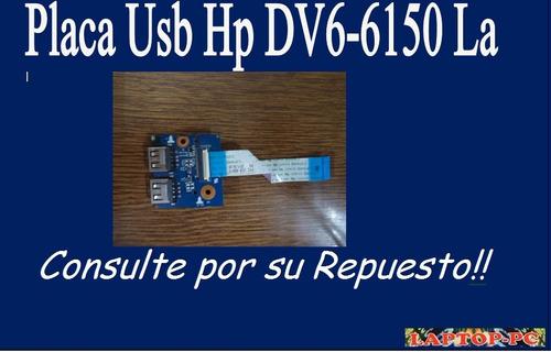 placa usb hp dv6-6150 la