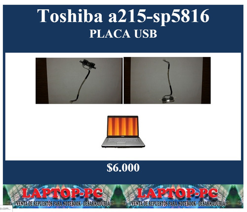 placa usb toshiba satellite a215-sp5816