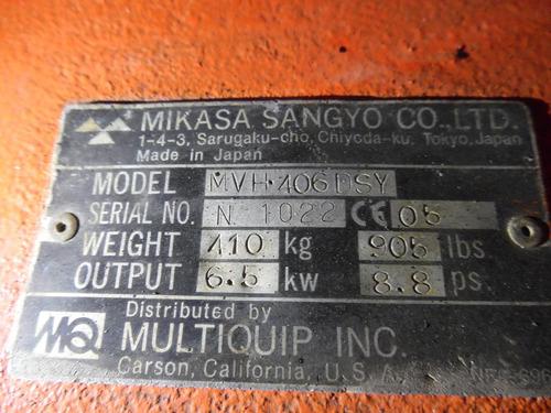 placa  vibratoria  reversible   mikasa multiquip