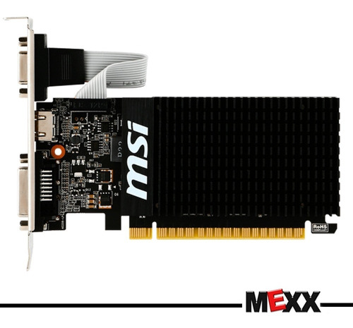 placa video geforce gt 710 1gb ddr3 hdmi vga dvi mexx  1