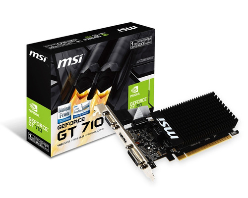placa video geforce gt 710 1gb lp ddr3 msi hdmi vga dvi
