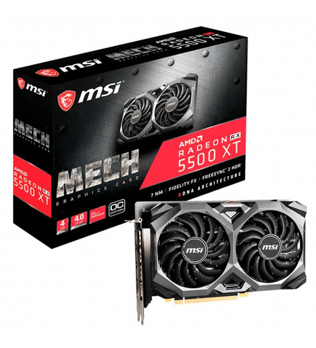 placa video msi radeon rx 5500 xt mech oc 4gb