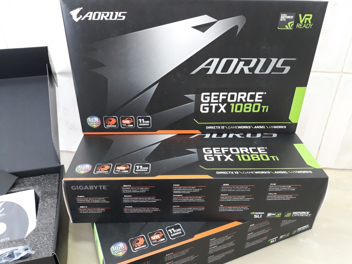 Placa Vídeo Nvidia Geforce Gtx 1080 Ti Aorus 11g Game/miner