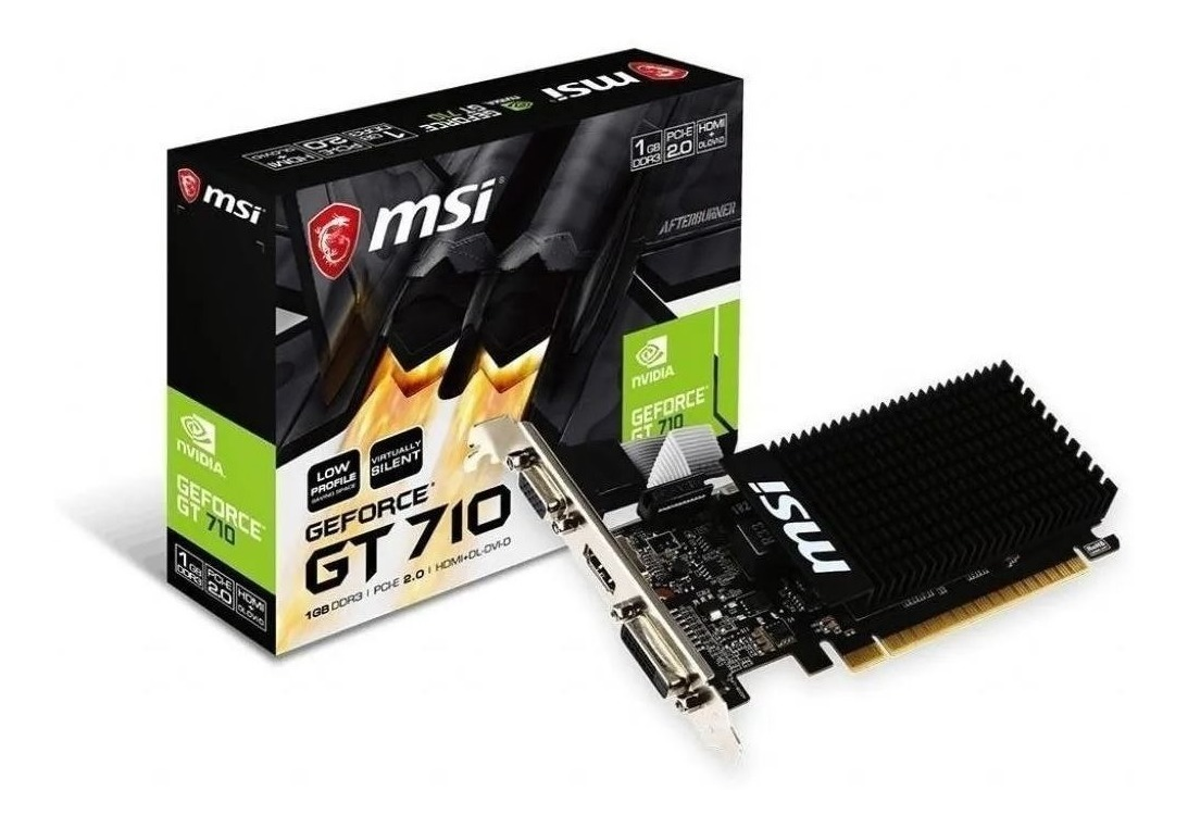 PLACA DE VIDEO MSI NVIDIA GT710 1GB LP