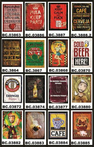 placa vintage king mdf 39x27cm havaianas brasil bc.04066