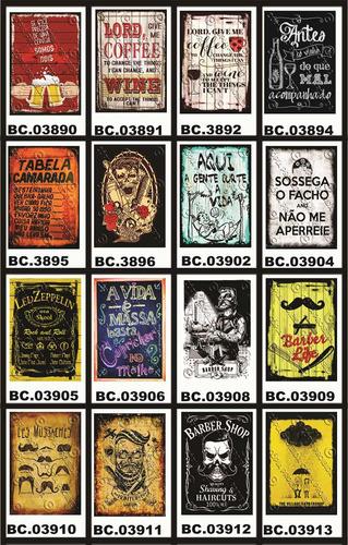 placa vintage king mdf 39x27cm havaianas brasil bc.04070
