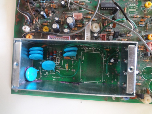 placa volts div time osciloscópio icel sc-6020  sucata