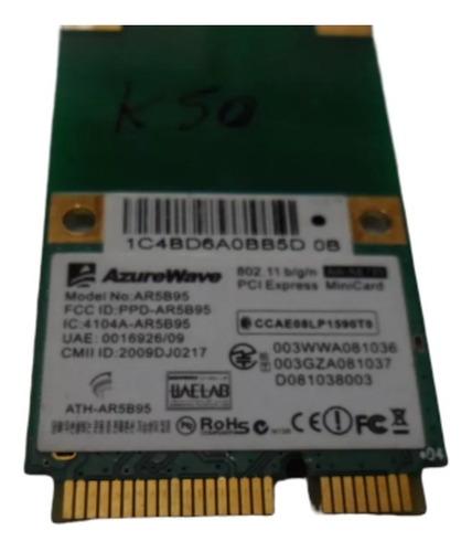 placa wifi azurewave ar5b95 para notebook asus k50 oferta