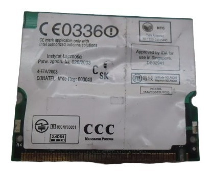 placa wifi broadcom bcm94306mpsg dell latitude d600 hot sale