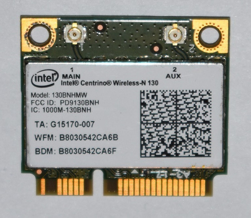 placa wifi intel 130bnhmw
