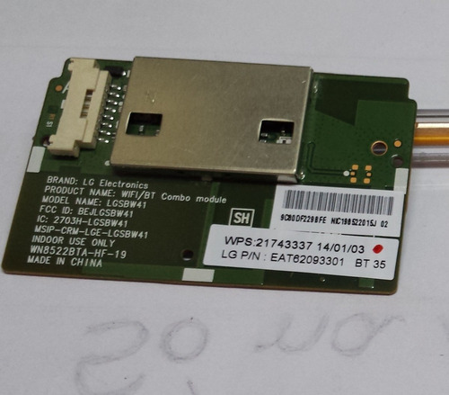 placa wifi  lgsbw41 50pb690b