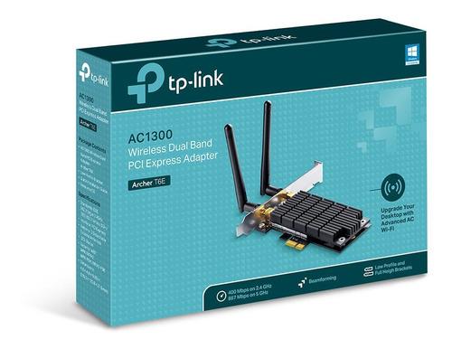 placa wifi red pci-e tp-link  archer t6e ac1300 doble antena