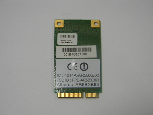 placa wireless acer - model 4720z p/n t60h976.00 - cód. 35