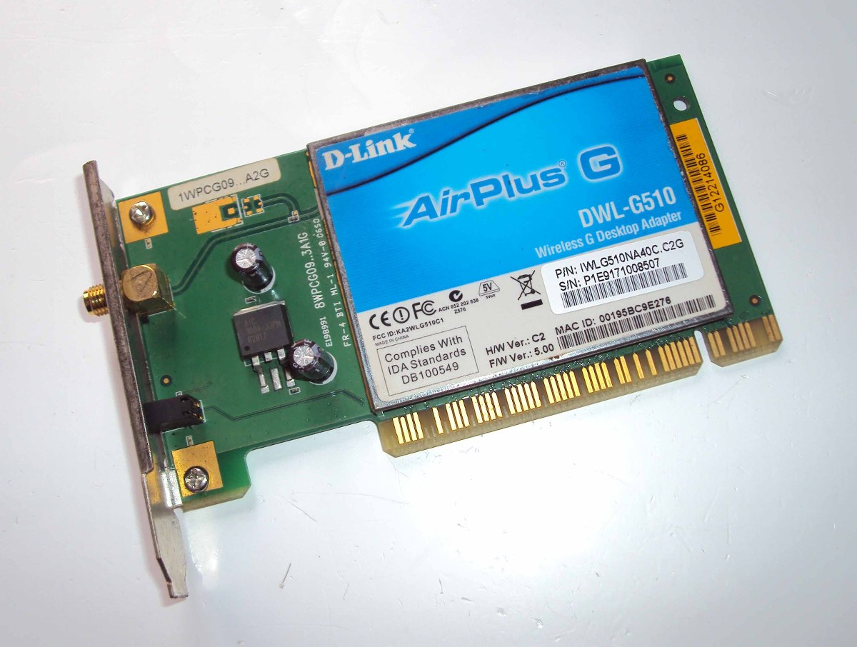 D-link airplus g dwl-g510 driver for windows 10.