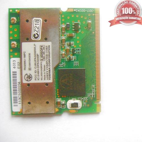 placa wireless mini card notebook toshiba - pa3299u-1mpc