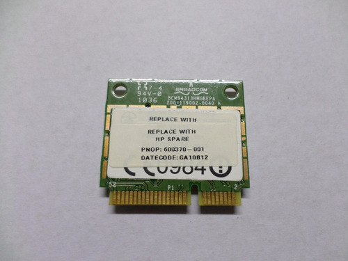 placa wireless netbook hp mini 3130br