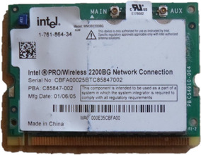 INTEL PRO WIRELESS 2200BG 54MBPS MINI PCI DRIVER WINDOWS