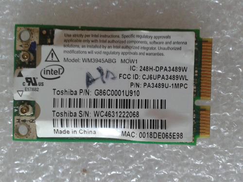 placa wireless notebook intel pro wm.