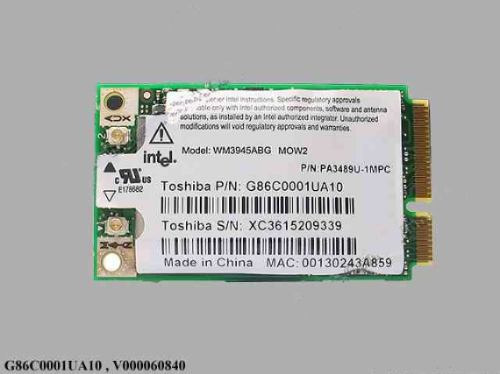 placa wireless notebook toshiba a100 g86c0001ua10