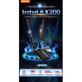 Placa Wireless Wi-fi Comfast Intel Ax200 Ax Bluetooth 5.0