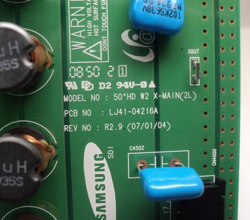 placa x main tv samsung pl50c91hx/xaz lj92-01398a nova + nf