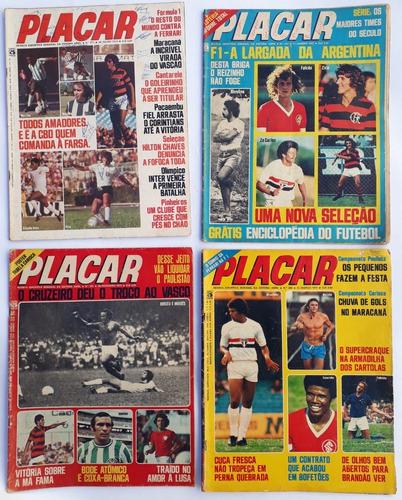 placar  1975 abril com 4 revista raras antigas frete grátis
