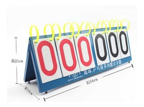 placar contador de pontos 6 digito de mesa triplo 999 pontos
