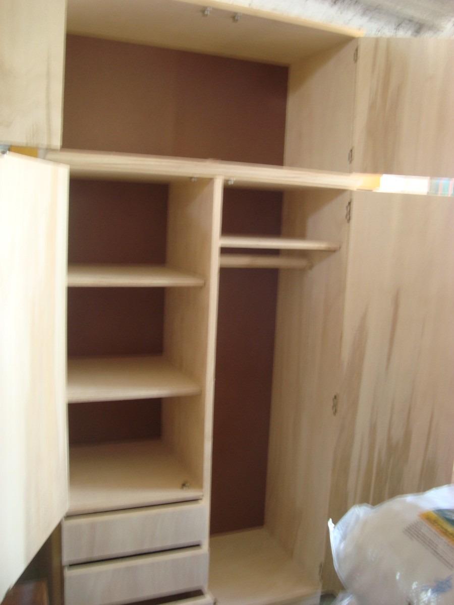 Placar de 2 puertas rustico o estilo campo en madera 7 for Roperos de madera para dormitorios