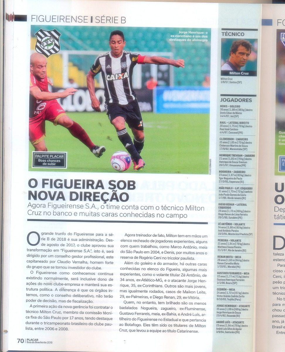 Placar Edição 1438 - Superguia Do Brasileirão 2018 - R  68 ae76408c58a4f