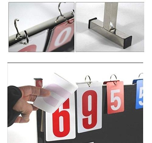 placar em inox marcador de pontos de mesa ou chao contador