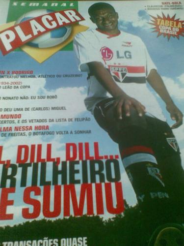 placar - janeiro 2002 - dill na capa