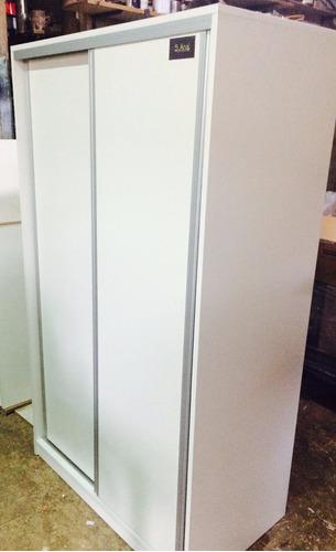 placar melamina blanco con puertas corredizas 1,80 x 1,80 h