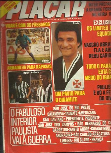 placar nº 366 29/04/1977 edição rara