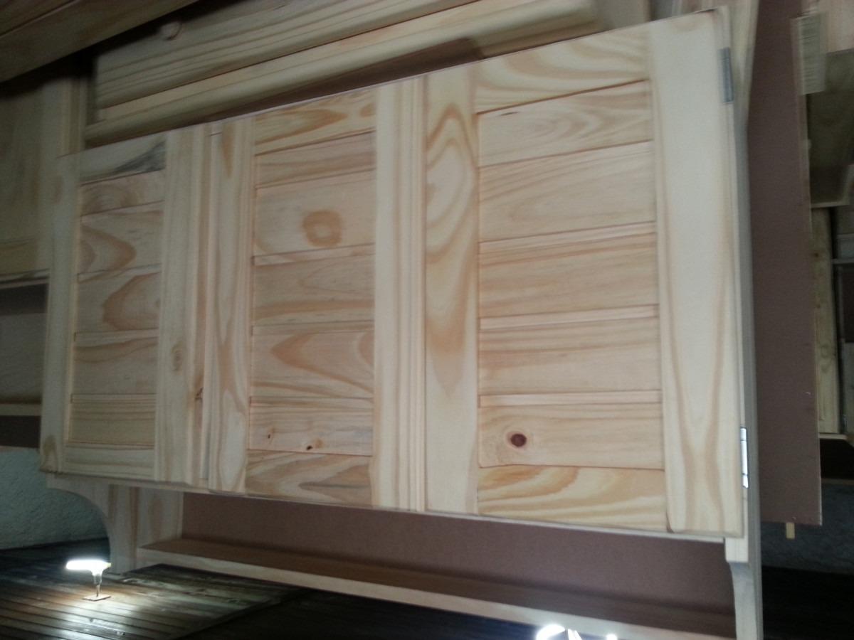 Placar o mueble de colgar de madera con 3 puertas 1 for Mueble de cocina 3 puertas