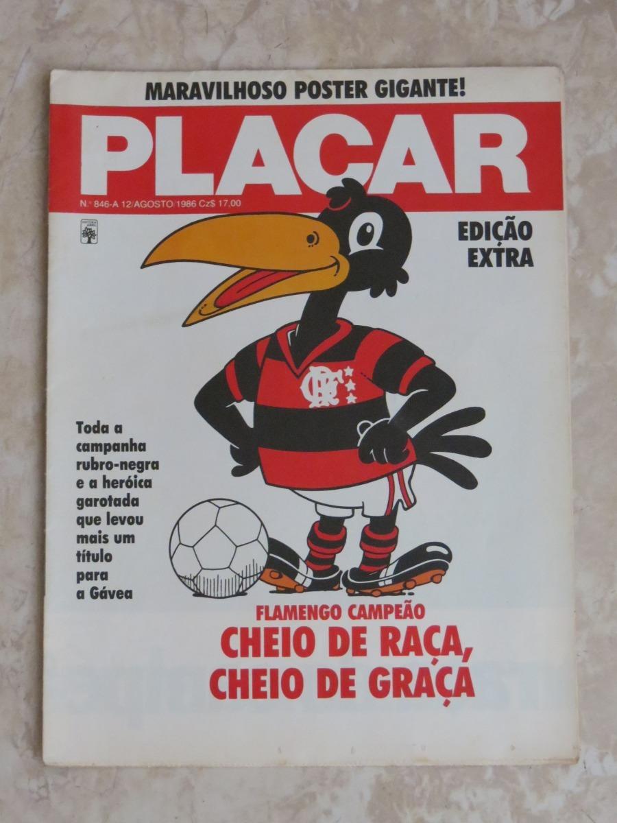 Placar Poster 846 A Flamengo Campeao Carioca 1986 R 125 00 Em