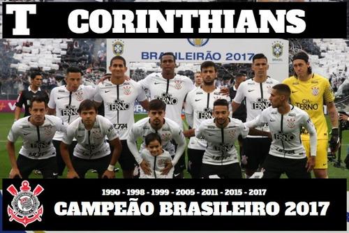 placar -revista poster/ corinthians campeão brasileiro 2017