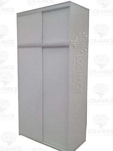 placard 120 ancho x 240 alto x 060 prof melamina blanca 18mm