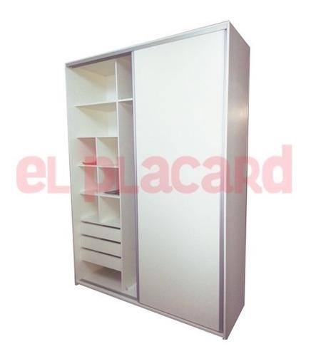 placard 180 anchox250 melamina rieles y perfiles de aluminio