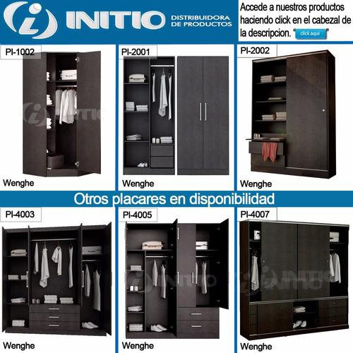 placard 2 puertas corredizas de 1.40m melamina fiplasto 2002