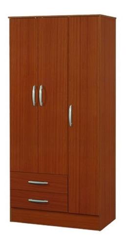 placard 23 ropero 87cm 3 puertas 2 cajones ropa estantes