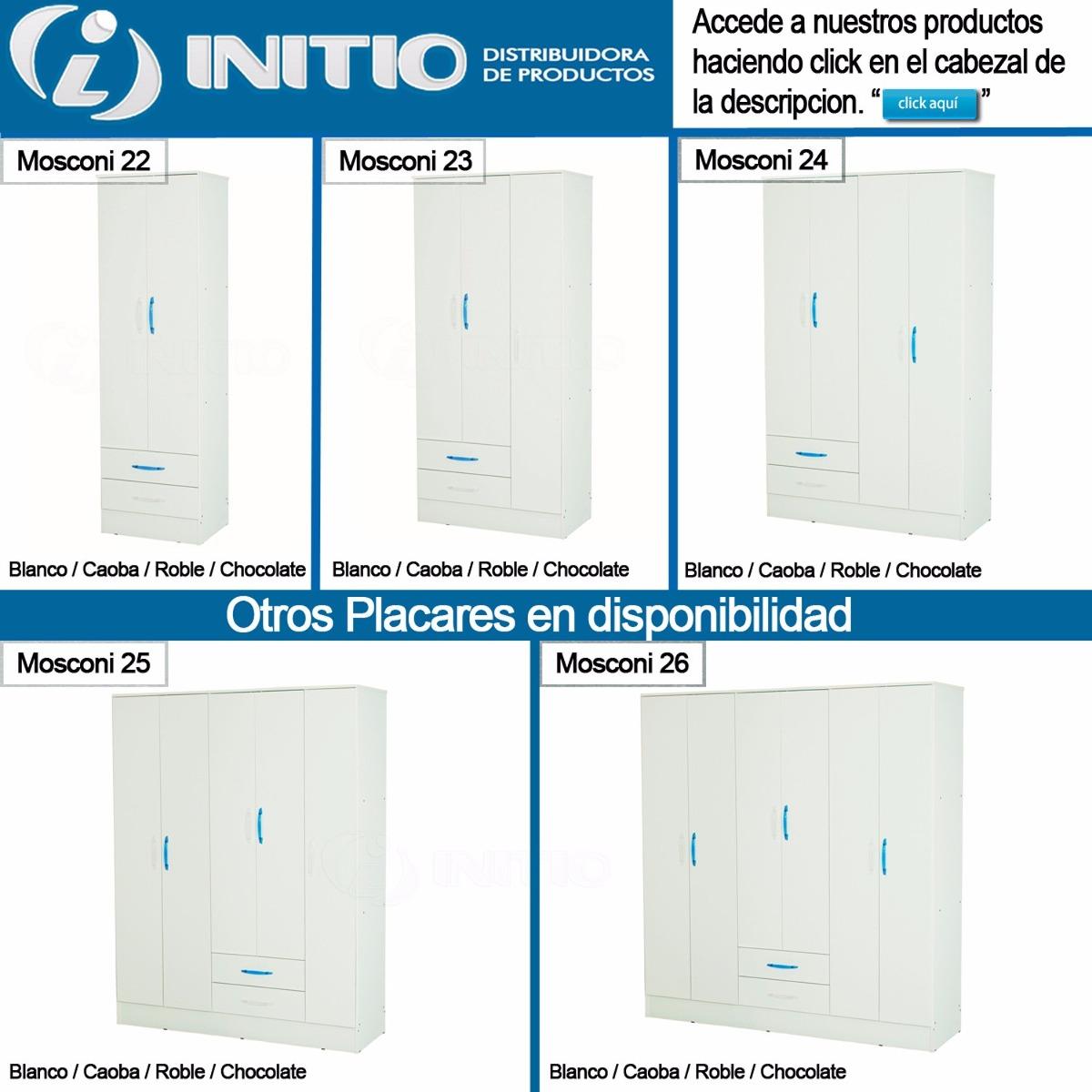 Placard 3 Puertas Melamina 87cm Mosconi 23 Initio Muebles  # Muebles Mosconi