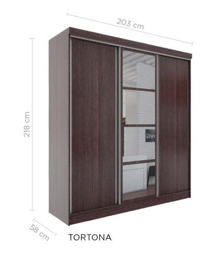 placard delos 3 puertas corredizas 3 cajones 4 espejos dl451