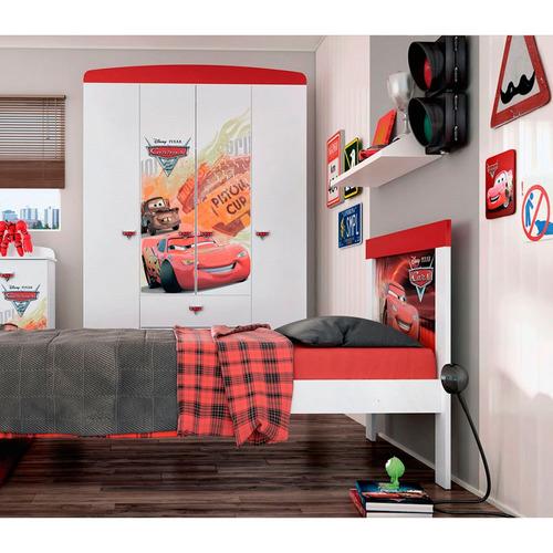 placard disney 14692 cars disney star blanco con rojo