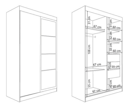 placard dl450 premium 2 prts corredizas 4 espejos kromo-s
