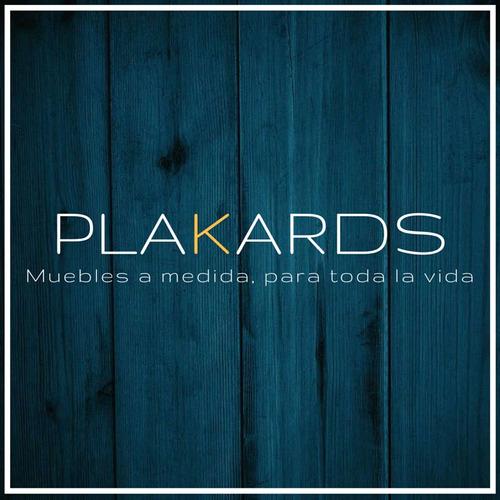 placard en madera cedro con cajonera y escritorio #plakards