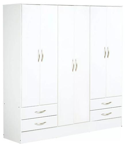placard platinum mod 916 6 puertas 4 cajones  blanco