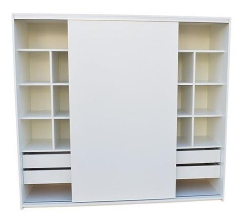placard ropero 2 de ancho 2 puertas  melamina blanco 18mm