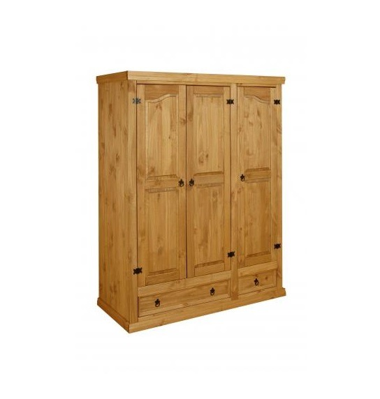 Placard ropero en madera de pino rustico de m 14 for Roperos de madera para dormitorios