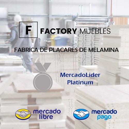 placard ropero factory muebles 2m melamina blanco promo!