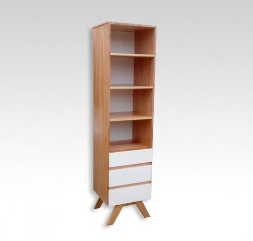 placard ropero nordico boden 3 estantes 3 cajones blanco 180